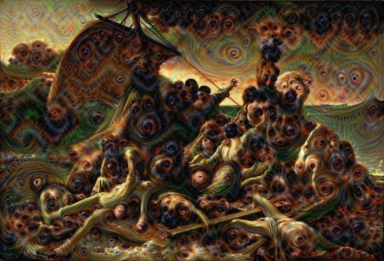 Géricault: Floß der Medusa | Collage